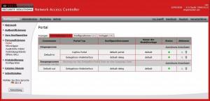 Securepoint NAC - Web-Oberfläche